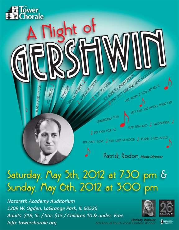 A Night of Gershwin concert program