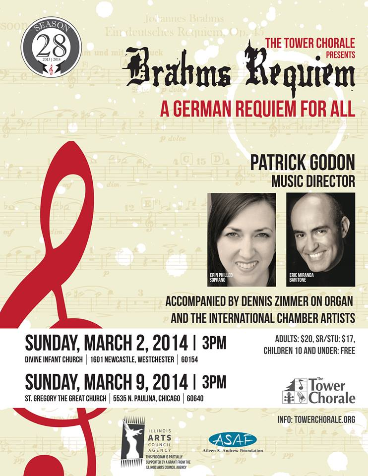 Brahms Requiem concert program