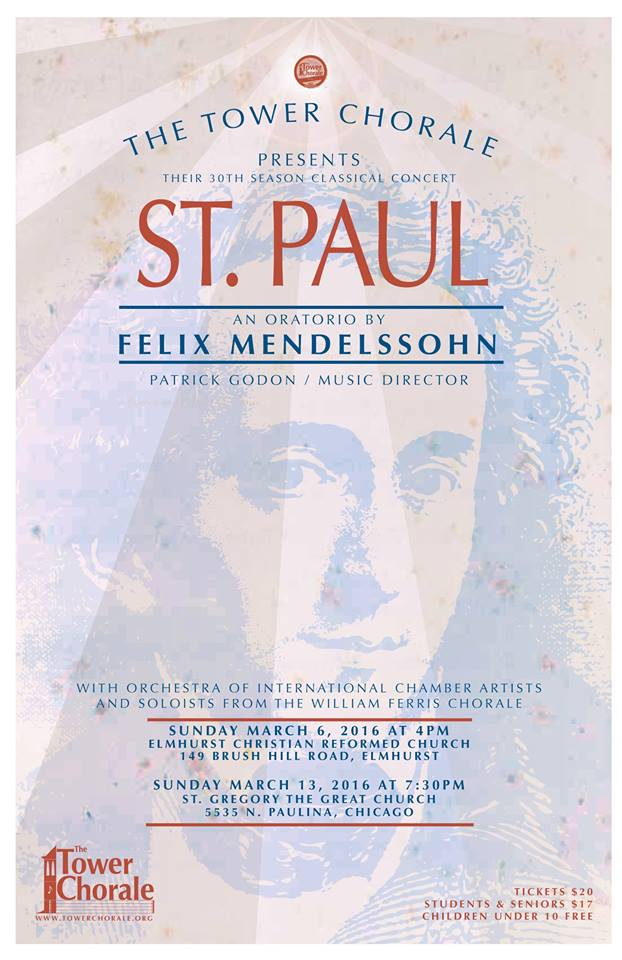 Mendelssohns St. Paul concert program