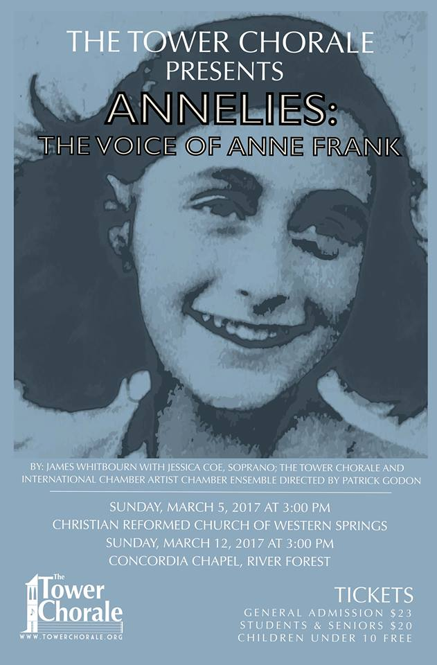 Annelies the Voice of Anne Frank concert program