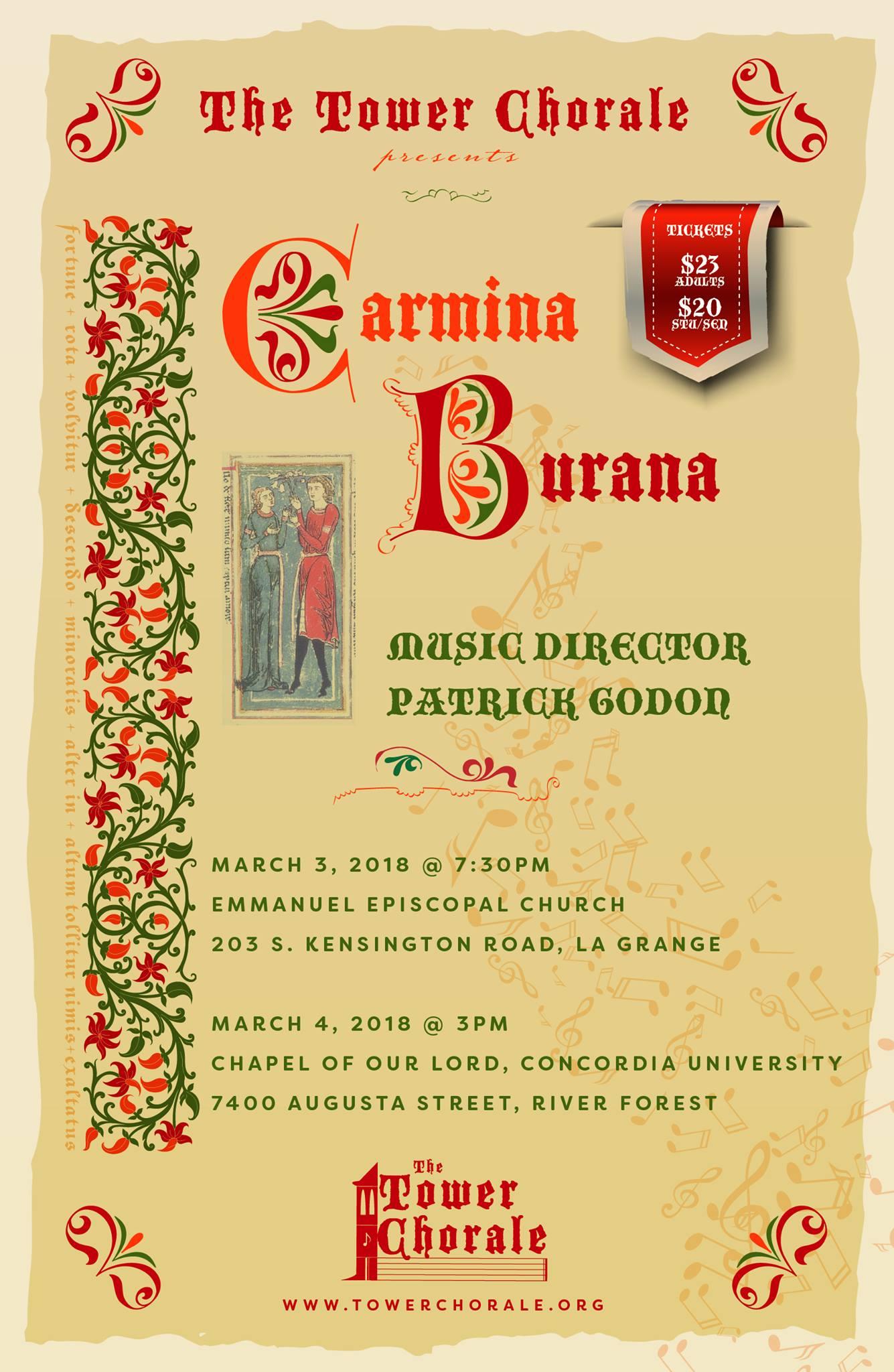 Carmina Burmana concert program