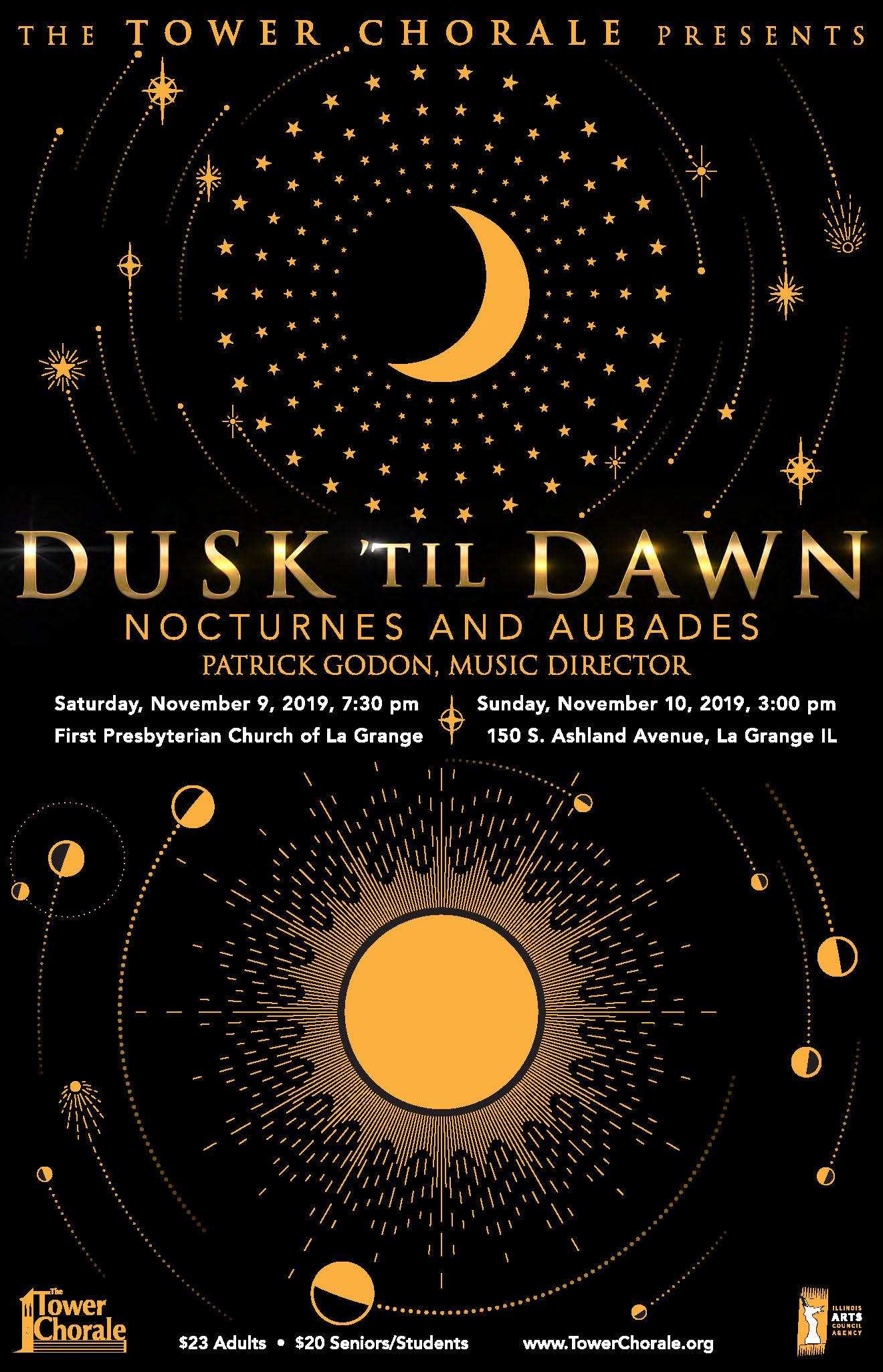 Dusk 'til Dawn concert poster