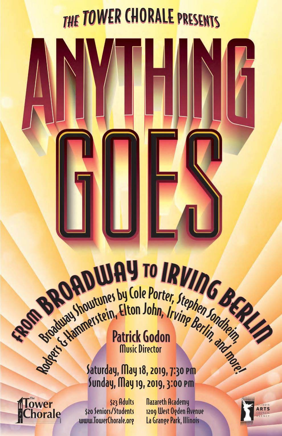 Anything Goes concert program