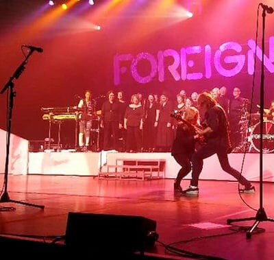 The Tower Chorale Performing with Foreigner